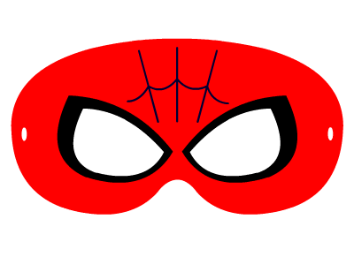 Maski do druku super bohater Spiderman. Masks to print super hero Spiderman.